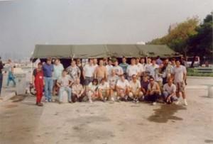 Istočasno so udeleženci iz drugih klubov Slovenije sodelovali pri čiščenju morskega dna na zunanjem pomolu. Gasilska slika za slovo.